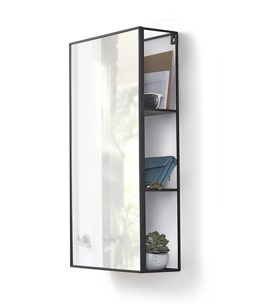 Mirrored hallway shelving unit - Cubiko