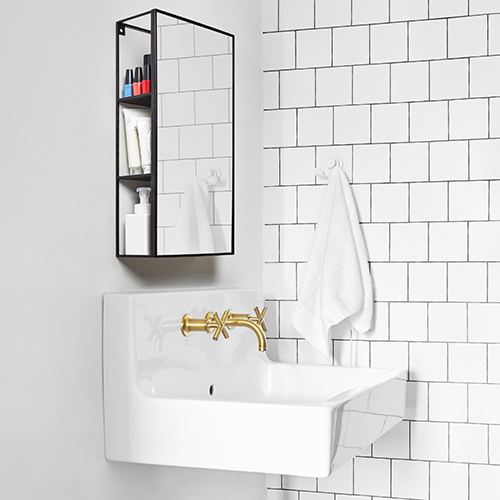 Bathroom mirror & shelving unit - Cubiko