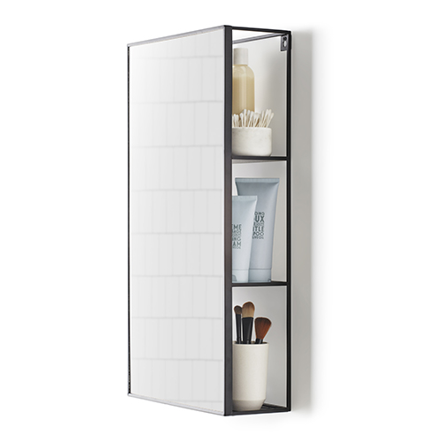Mirrored bathroom shelving unit - Cubiko