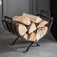 Folding Log Holder - Pewter