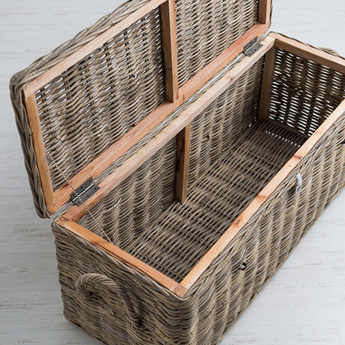 rattan shoe storage bench