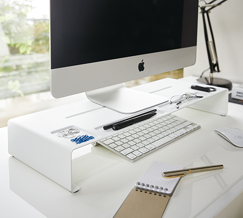 quality white desktop monitor stand