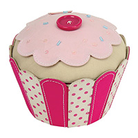 Button Storage Box - Cupcake