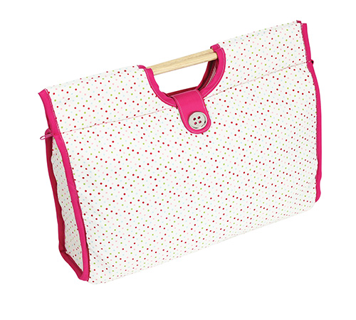 polka dot design knitting bag