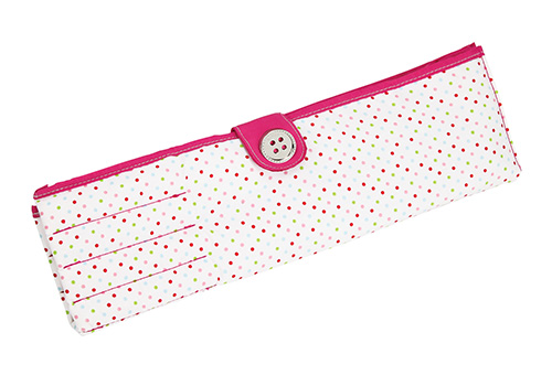 polka dot print knitting needle roll