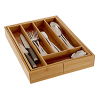 Small Extending Wooden Cutlery Tray