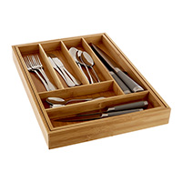 Large Extending Wooden Cutlery Tray