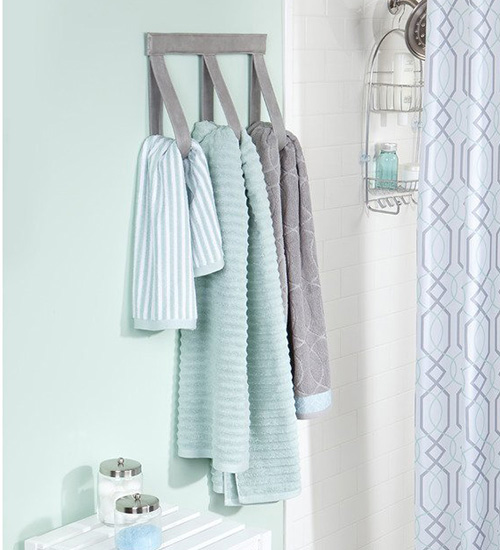 grey wall mount towel hanger
