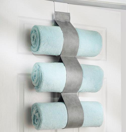 grey over the door towel holder