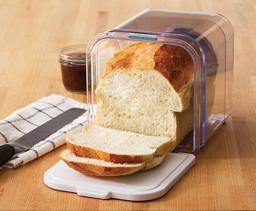 expanding clear bread bin