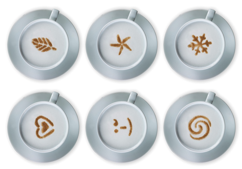 cappuccino stencil set and chocolate sprinkler