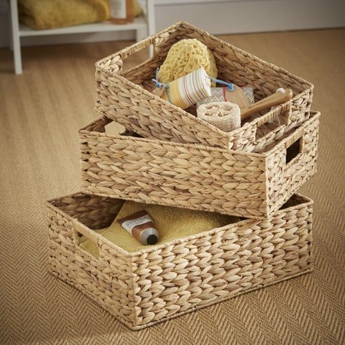 water hyacinth storage baskets