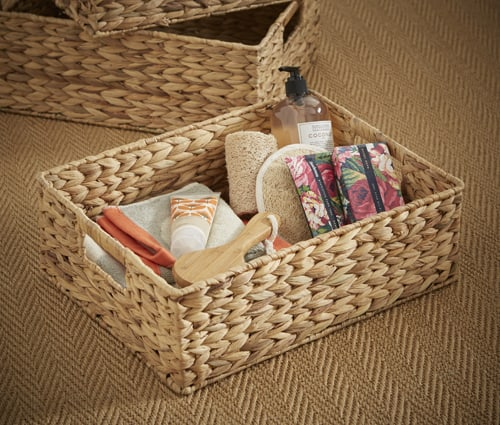 medium sized water hyacinth storage basket from our set of three