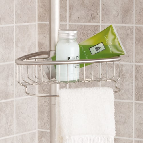 tension shower caddy for bathroom storage