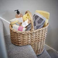 Natural Willow Stair Basket