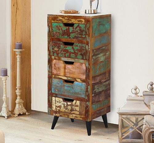 5 drawer storage tallboy - Coastal Chic