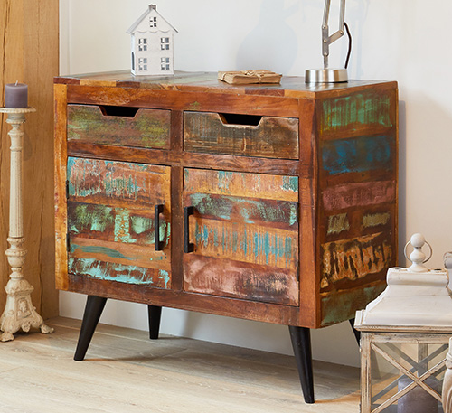 2 drawer and 2 door small sideboard - Coastal Chic