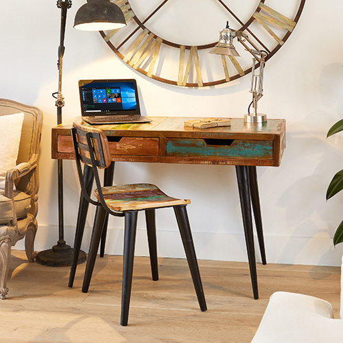 Laptop desk / dressing table - Coastal Chic