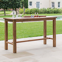St Mawes Bar Table With Drinks Cooler - Large
