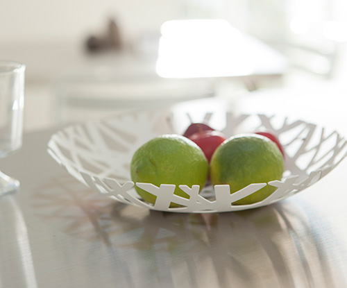 Painted steel fruit bowl by Yamazaki