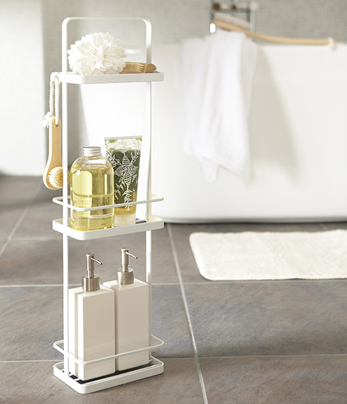 Slimline 3 tier bathroom storage unit by Yamazaki