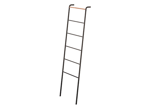 Leaning towel ladder