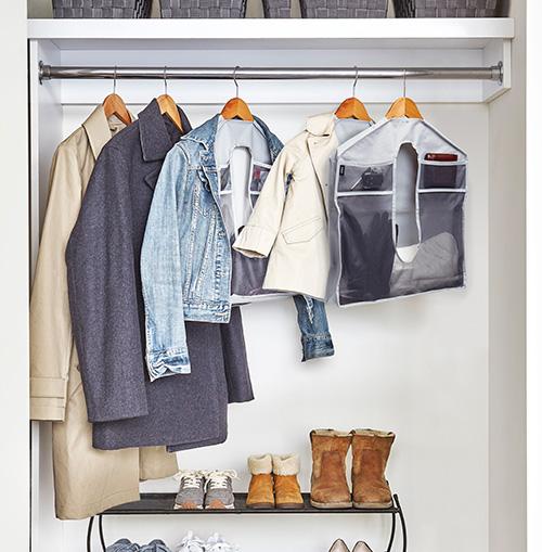 Mesh wardrobe organiser