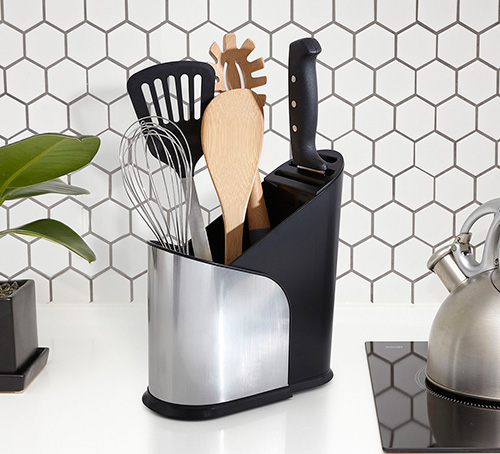 Expanding kitchen utensil holder - Furlo