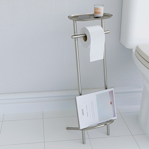 Toilet Roll Stand & Magazine Rack - Valetto