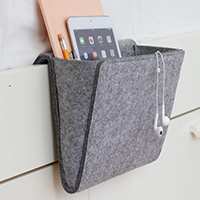Tech Storage Pocket - Grey Felt