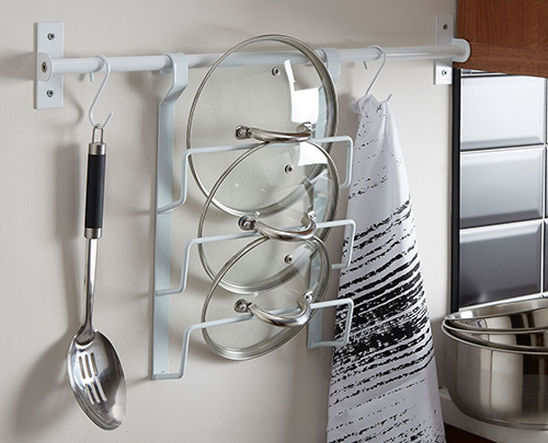 Metal 3 tier pan lid organiser