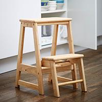 Folding Wooden Step-Stool