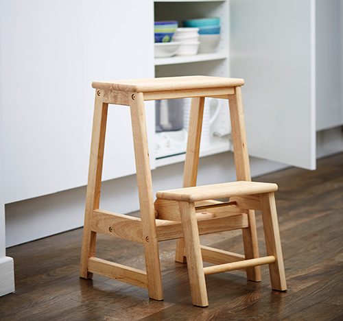 Store Folding Wooden Step Stool