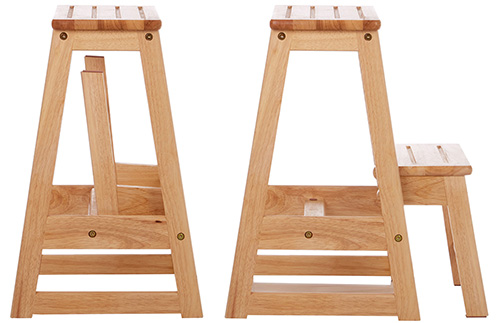 Folding two step stool