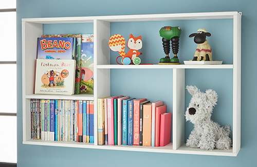 Meike slimline wall mounted bookshelf