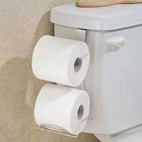 Cistern Mount Double Loo Roll Holder & Dispenser - Axis