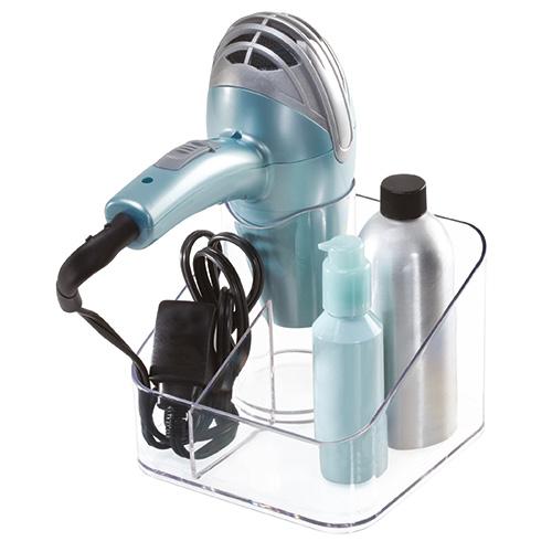 Clear acrylic hair dryer holder