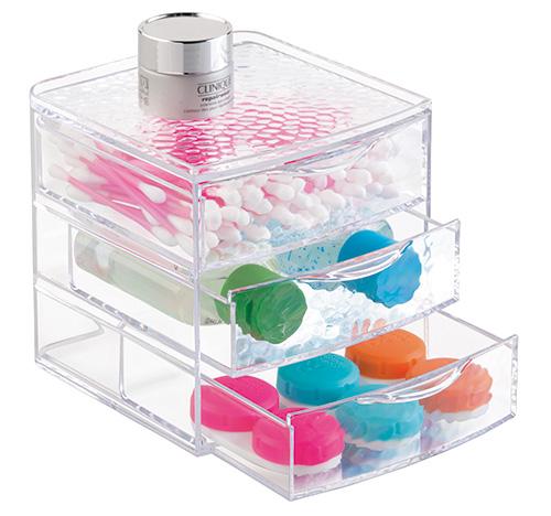 3 Drawer Acrylic Organiser - Rain
