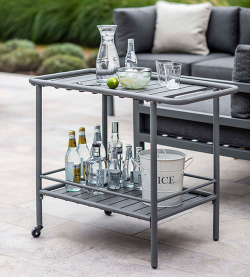 Drinks serving trolley