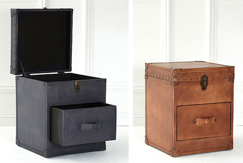 Buffalo leather storage chest