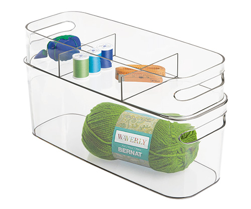 Set of 2 Stackable Storage Baskets - Una