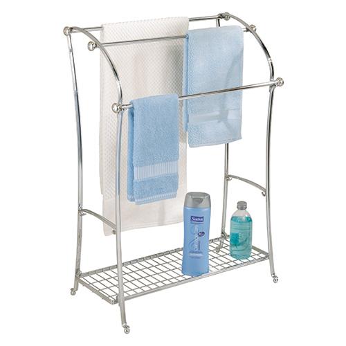 Free standing triple towel storage rail