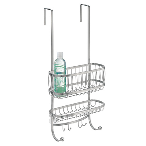 Shower caddy for use over shower door / shower screen