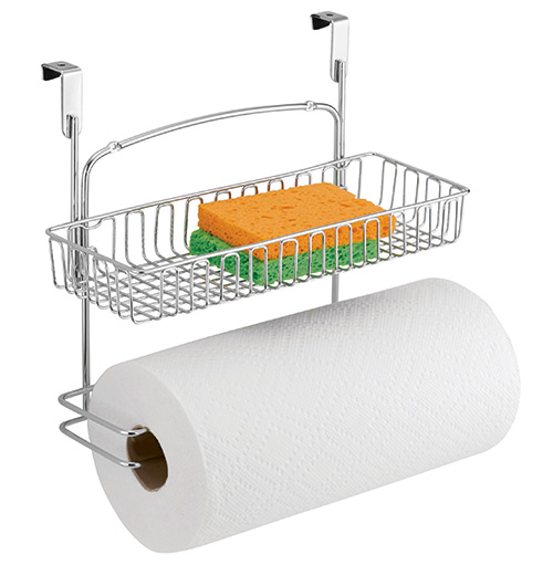 Over cabinet kitchen roll holder