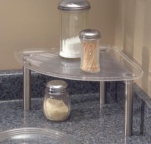 BPA free plastic corner shelf
