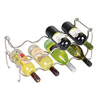 Stacking Chromed Wine Rack - Lyra