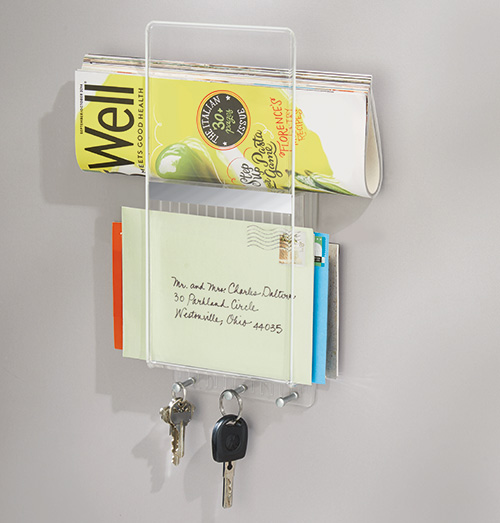 Acrylic Wall Mounted Post & Key Rack - Linus