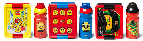 LEGO lunch set with lunch box and drinking bottle