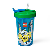 LEGO Tumbler With Pop-Up Straw