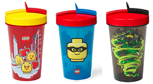 LEGO drinking tumbler with straw - 4 designs available